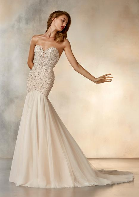 Daytime Wedding                                          dress by Pronovias Atelier