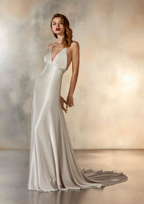 Ladder Wedding                                          dress by Pronovias Atelier
