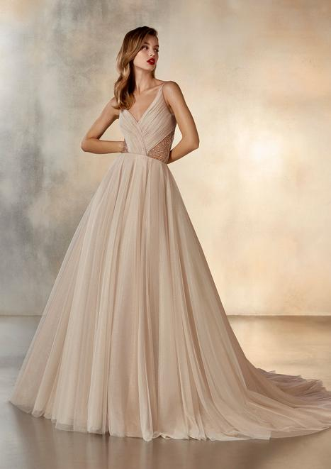Meteor Wedding                                          dress by Pronovias Atelier