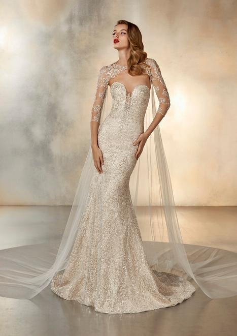 Moon King Wedding                                          dress by Pronovias Atelier