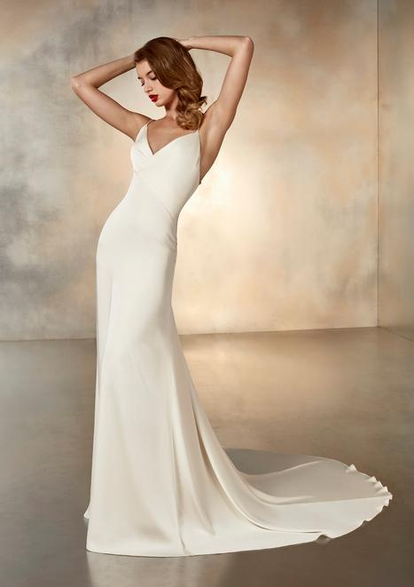 Moonlight Wedding                                          dress by Pronovias Atelier