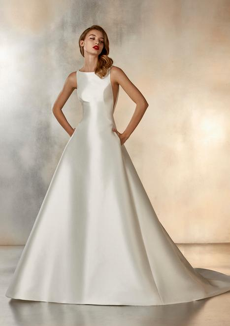 Morning gown from the 2020 Pronovias Atelier collection, as seen on dressfinder.ca