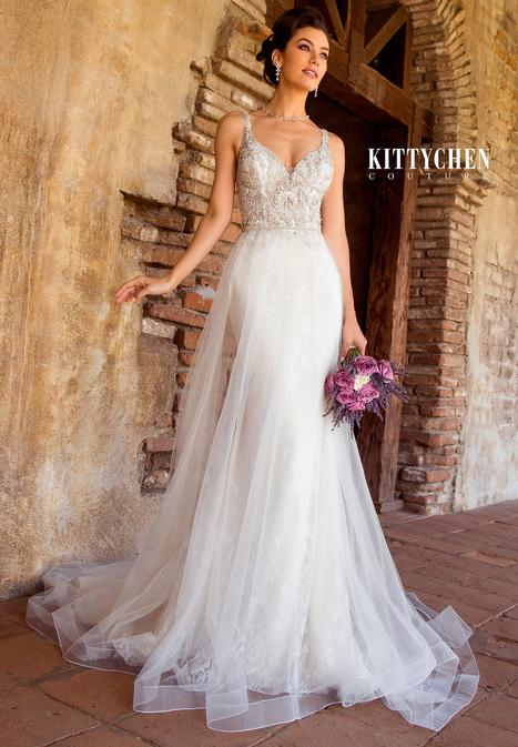 Cyndi Sky Wedding                                          dress by KittyChen Couture