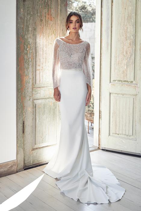 Bridget Topper Wedding                                          dress by Anna Campbell