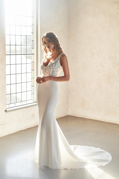Indigo Crepe Wedding                                          dress by Anna Campbell
