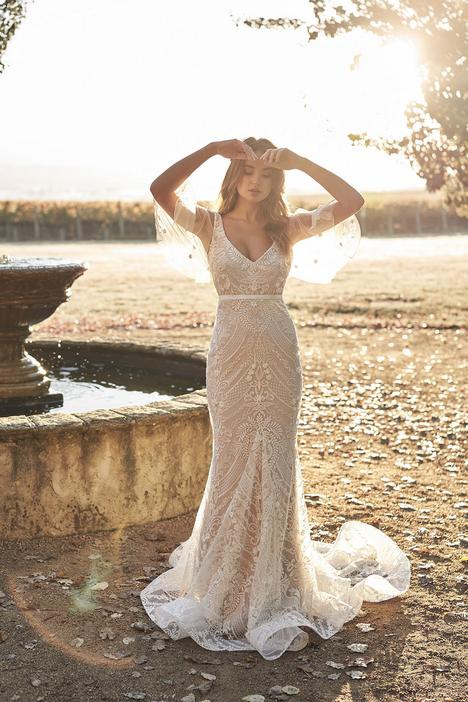 Lexi Trumpet (with Draped Sleeves) Wedding                                          dress by Anna Campbell