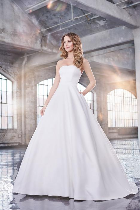 Wedding                                          dress by Martin Thornburg for Mon Cheri