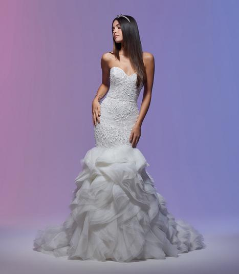 Stephanie Wedding                                          dress by Lazaro