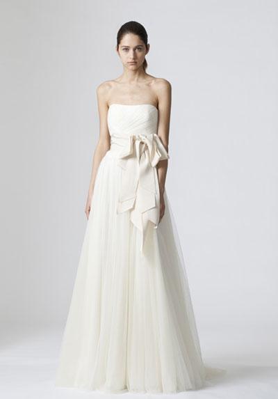 Delaney Wedding                                          dress by Vera Wang