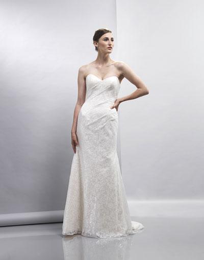 Elisha Wedding                                          dress by Lis Simon
