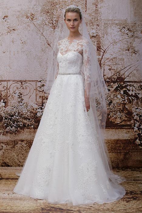 Portrait Wedding                                          dress by Monique Lhuillier