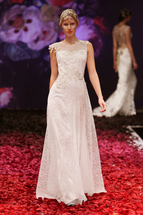 Gossamer gown from the 2014 Claire Pettibone: Romantique collection, as seen on dressfinder.ca