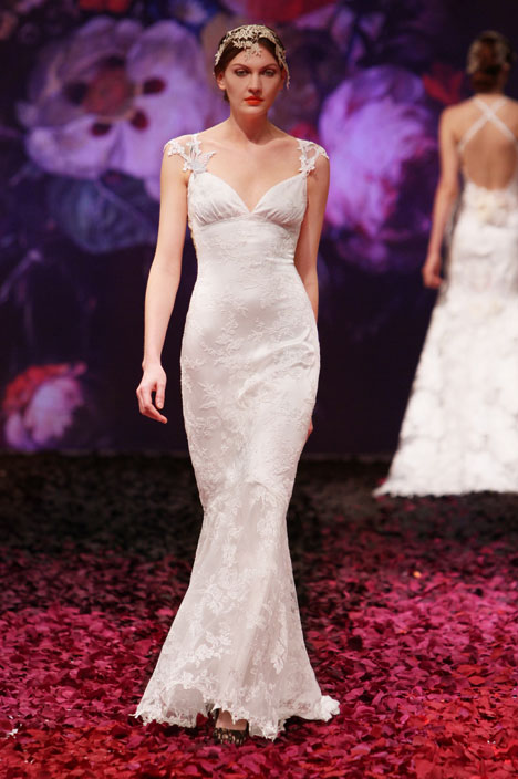 Papillon Wedding                                          dress by Claire Pettibone : Romantique