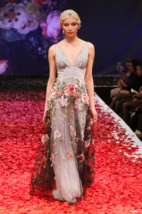 Raven Wedding                                          dress by Claire Pettibone : Romantique