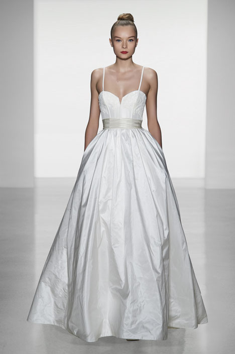 Cameron Wedding                                          dress by Amsale