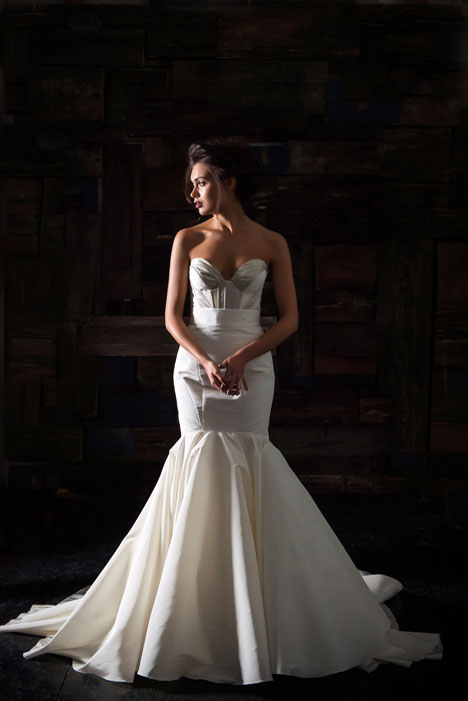 Alliette Bustier + La Reine Skirt Wedding                                          dress by Carol Hannah