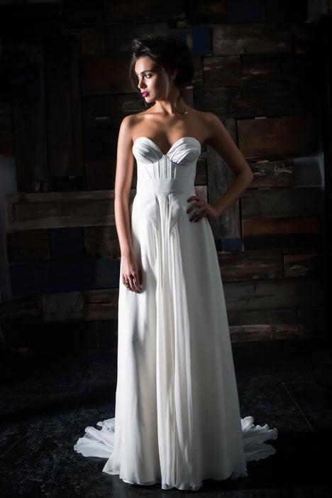 Le Etoille Bustier + Le Ciel Skirt Wedding                                          dress by Carol Hannah