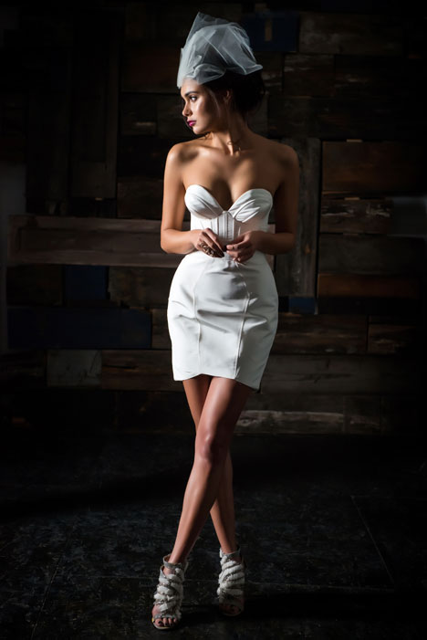 La Reine Skirt + Le Etoille Bustier Wedding                                          dress by Carol Hannah