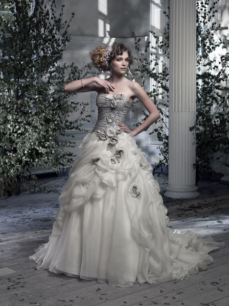 Amalfi Wedding                                          dress by Ian Stuart