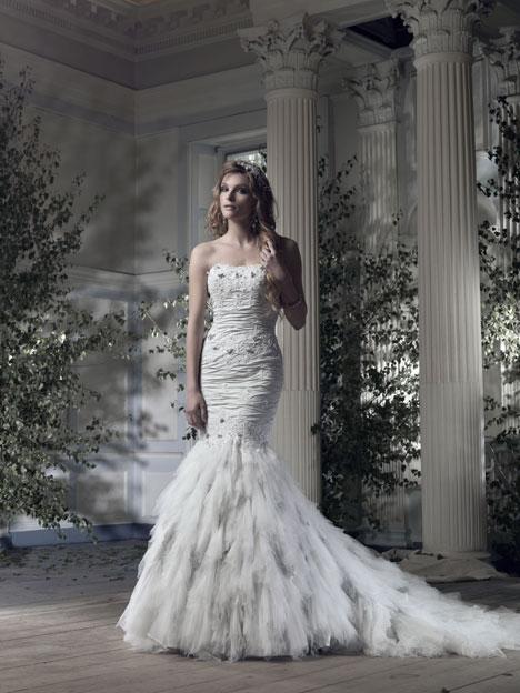Arctic Fox Wedding                                          dress by Ian Stuart