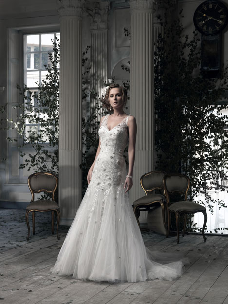 Wild Flower Wedding                                          dress by Ian Stuart