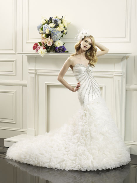 Lucille gown from the 2014 Val Stefani collection, as seen on dressfinder.ca