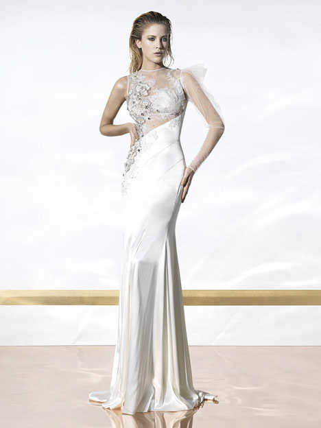 Costa Rica gown from the 2014 YolanCris collection, as seen on dressfinder.ca