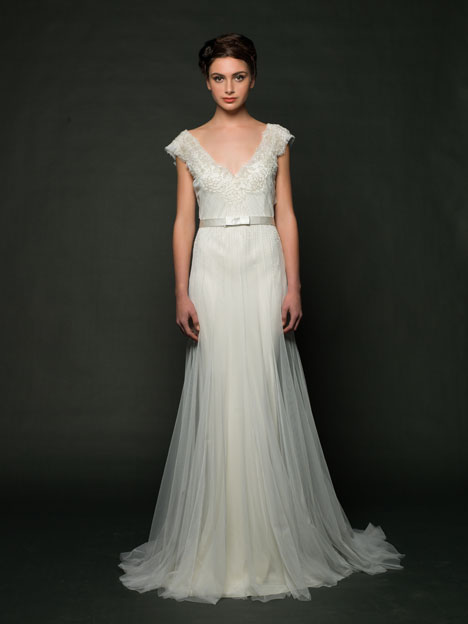 Delaney Wedding                                          dress by Sarah Janks