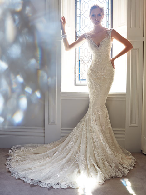 Leigh Wedding                                          dress by Sophia Tolli