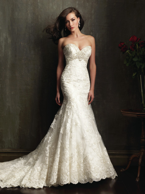 Style 9051 gown from the 2013 Allure Bridals collection, as seen on dressfinder.ca