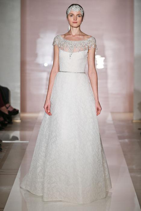 Bernadette Wedding                                          dress by Reem Acra