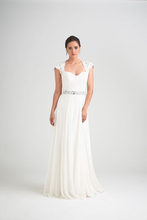 Charm School + Intrigue Shrug Wedding                                          dress by Caroline Castigliano