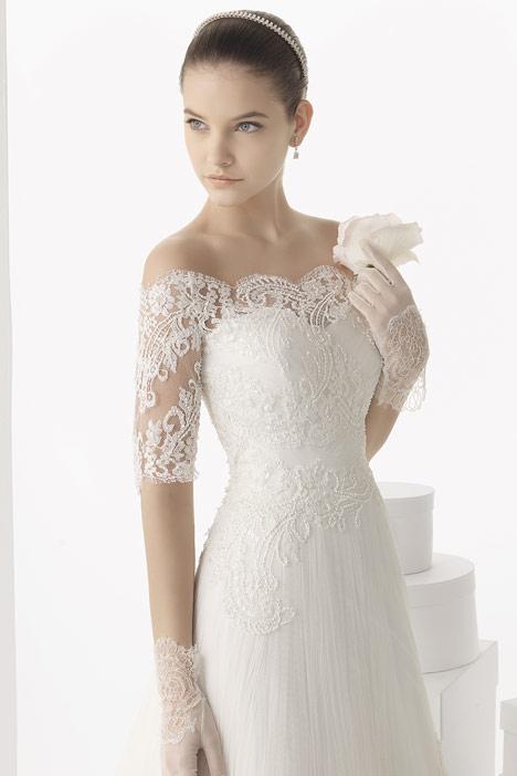 Carlota + Jacket Wedding                                          dress by Rosa Clara Couture
