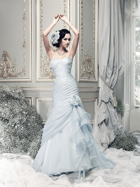 Bewitched (pale blue) Wedding                                          dress by Ian Stuart