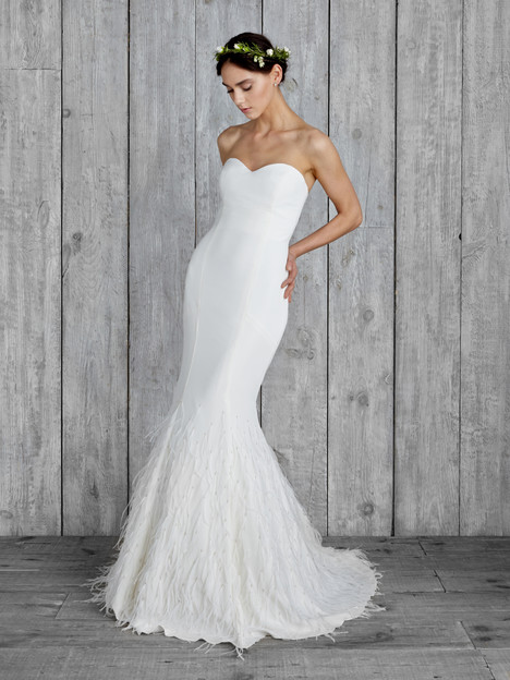 Plume Wedding                                          dress by Nicole Miller