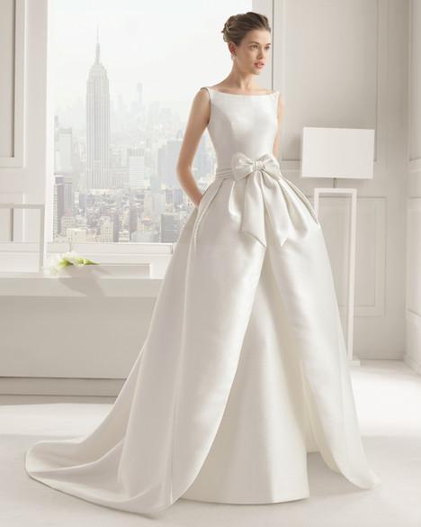 Sandrine + Overskirt Wedding                                          dress by Rosa Clara Couture