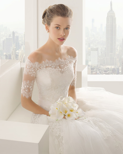 Sheila + Jacket Wedding                                          dress by Rosa Clara Couture