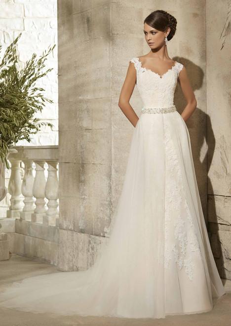 5316 + Overskirt Wedding                                          dress by Mori Lee: Blu