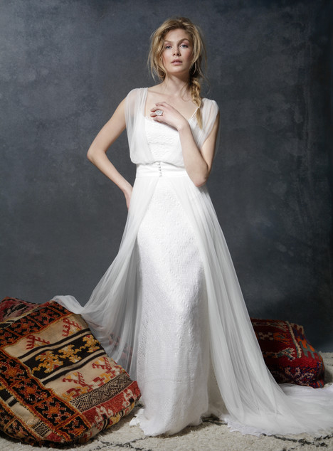 Through the Forrest + Gypsy Overlay Wedding                                          dress by Ivy & Aster