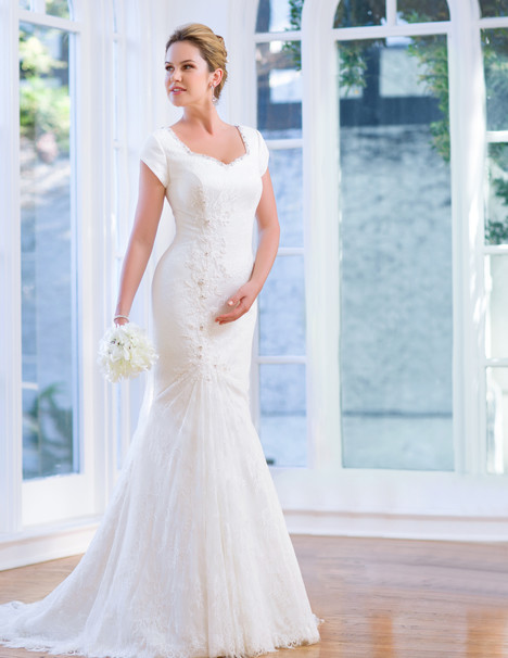 TB7669 Wedding                                          dress by Venus Modest