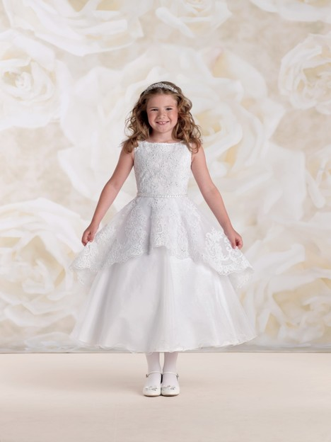115313 (white) Flower Girl                                      dress by Joan Calabrese