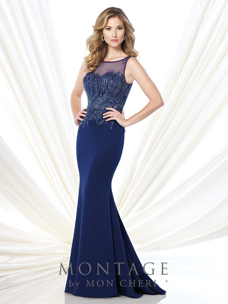 215901 (navy) Mother of the Bride                              dress by Montage : Ivonne D Collection
