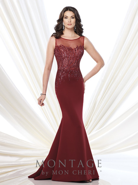 215901 (wine) Mother of the Bride                              dress by Montage : Ivonne D Collection