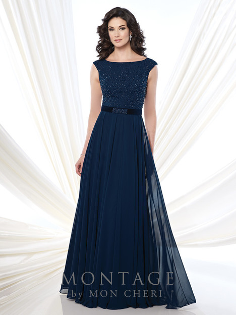 215903 (navy) Mother of the Bride                              dress by Montage : Ivonne D Collection