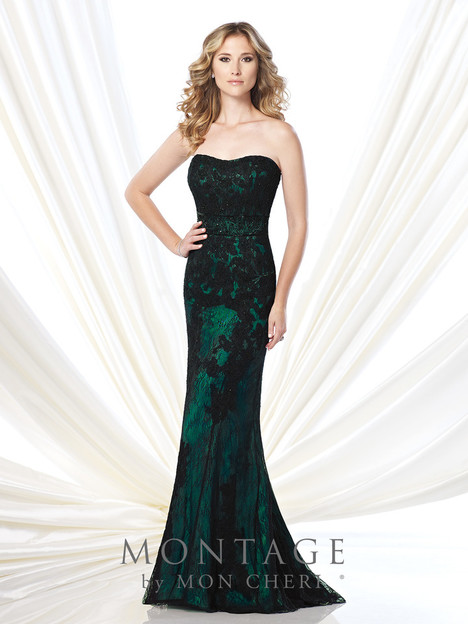 215904 (black/green) Mother of the Bride                              dress by Montage : Ivonne D Collection