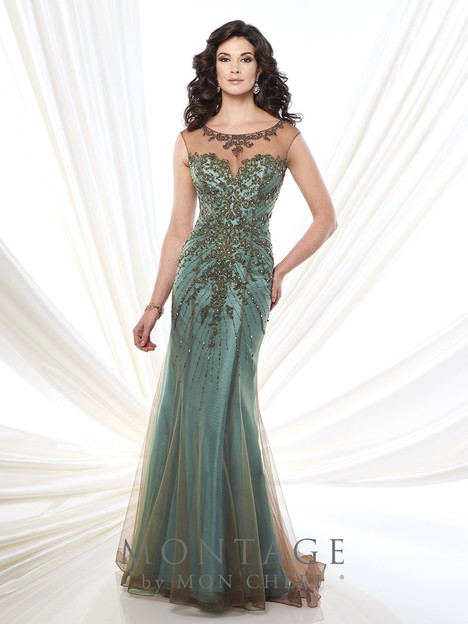 215911 (aqua) Mother of the Bride                              dress by Montage: Ivonne D Collection
