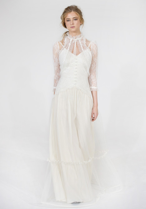 Shawnee (ivory) + Jacket Wedding                                          dress by Claire Pettibone: Couture