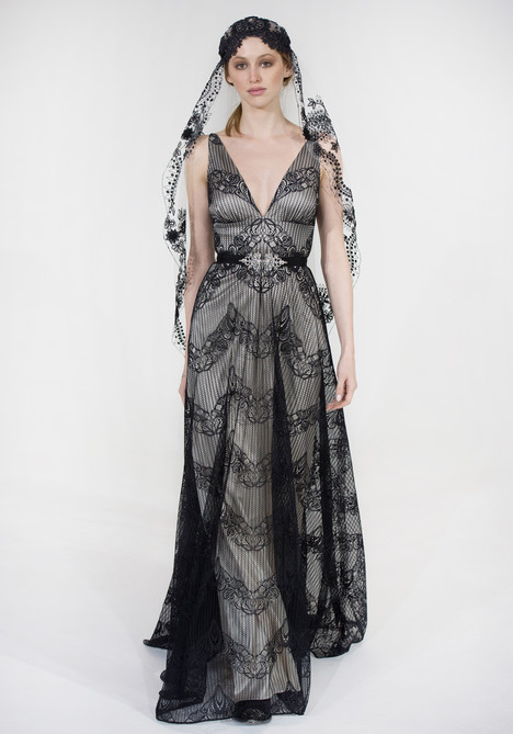 Virginia (black) gown from the 2016 Claire Pettibone: Couture collection, as seen on dressfinder.ca