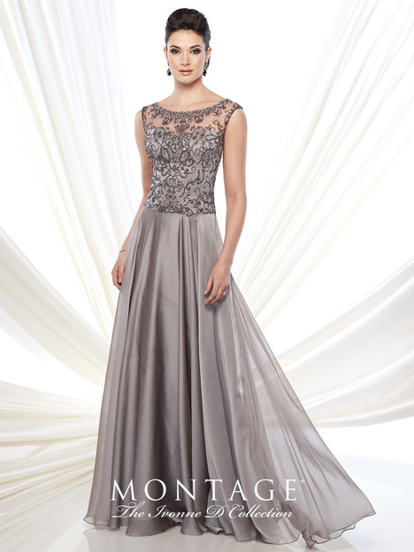 215D12 (pewter) Mother of the Bride                              dress by Montage : Ivonne D Collection
