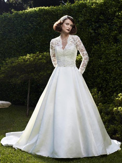2073 + Jacket Wedding dress by Casablanca Bridal